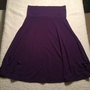 Lularoe Azure, deep purple, NWOT, medium